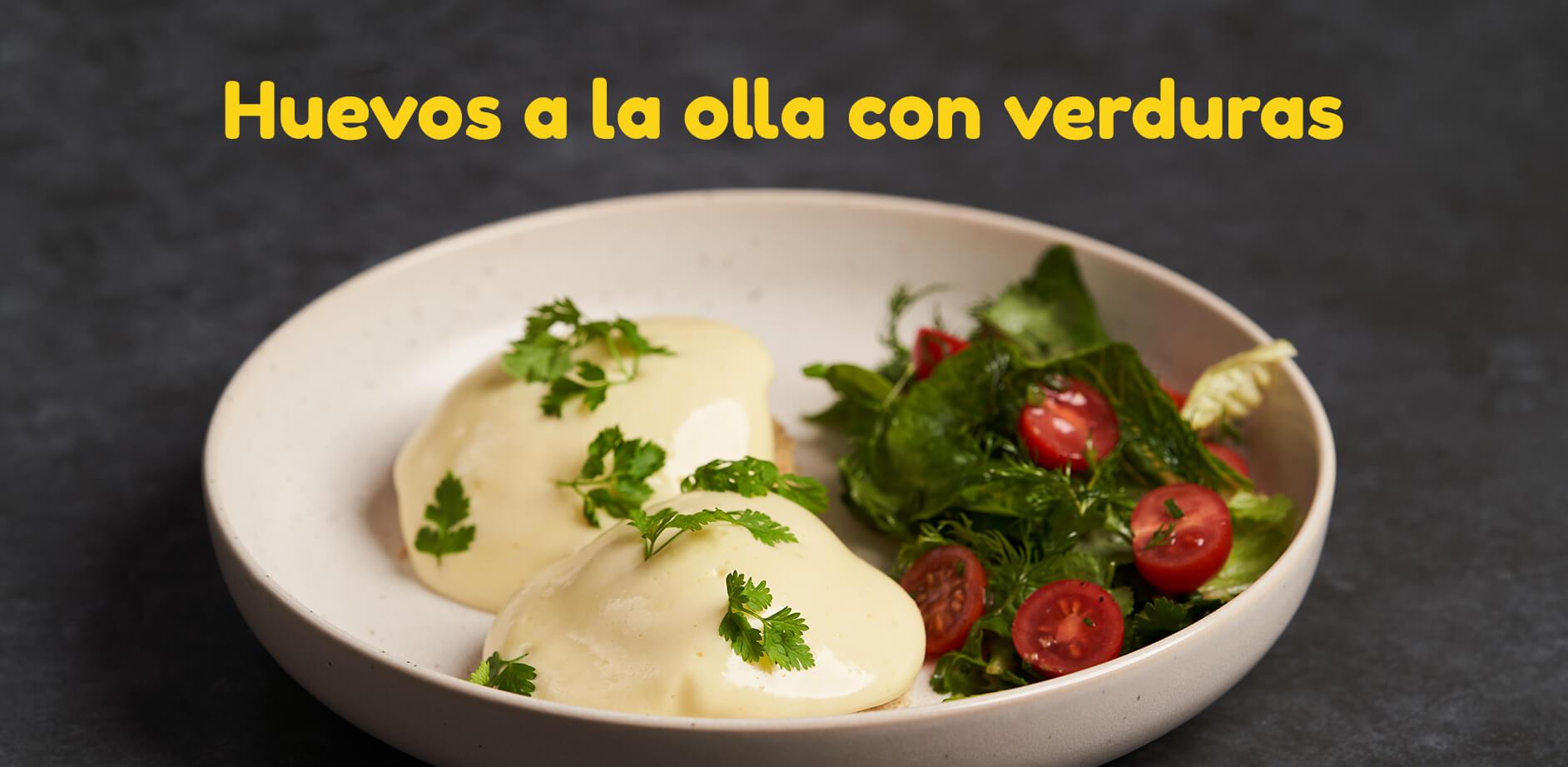 Huevos a la olla con verduras